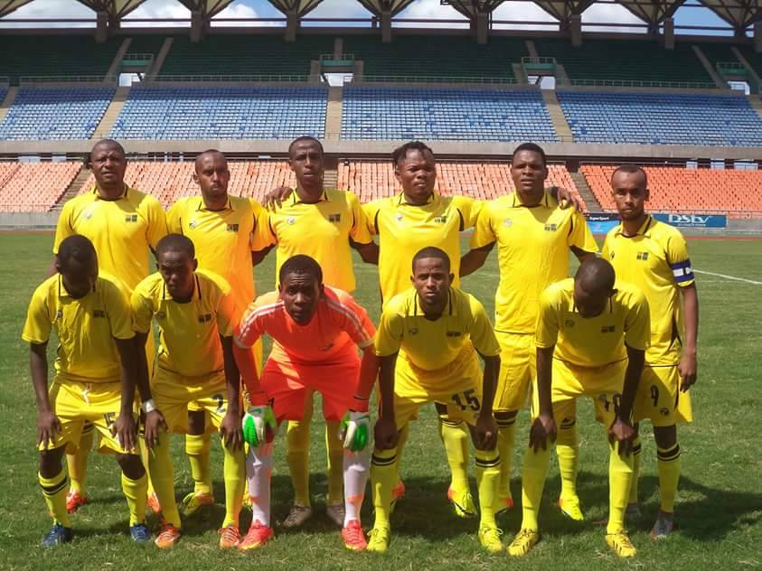 Djibouti Telecom FC pictured in Dar Es Salaam National stadium lost in the finals of Djibouti cup in 2012, 2013 and 2014 PHOTO BY CECAFA Media