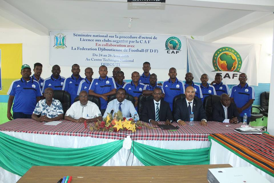 FDF officials and CAF instructors pictured with the workshop participants
